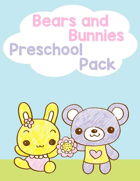 Bears and Bunnies Preschool Pack