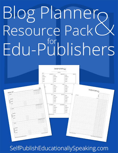 Blog Planner and Resource Pack for Edu-Publishers