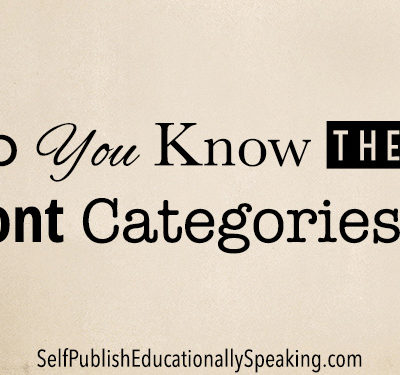 Do You Know These Font Categories?