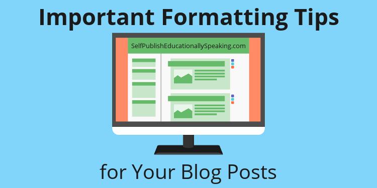 blog formatting tips